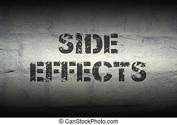 side effects gr - side effects stencil print on the grunge...