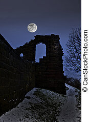 Spooky castle - A very spooky castle in the moonlight after...