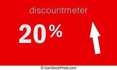Black Friday Sale discount percentage text and animated look like special discountmeter