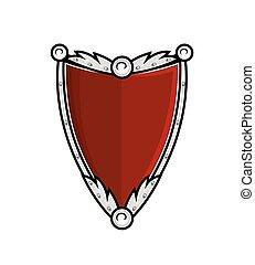 Ancient Shield Vector Illustration