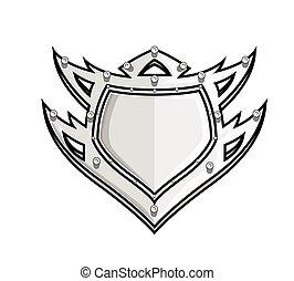 Tribal Shield Design Vector Illustration