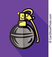 Hand Grenade Vector Illustration