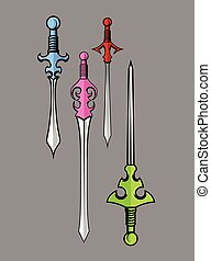 Swords Designs Vector