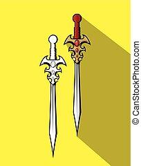 Trendy Swords Designs Vector Illustration