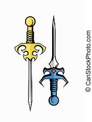 Medieval Swords Vector Illustration