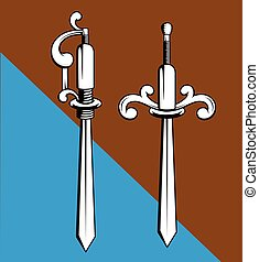 Old Swords Designs Vector