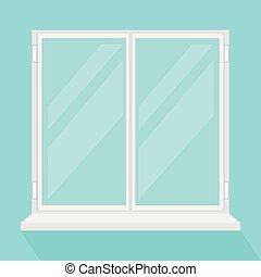 Closed modern window