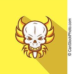 Horrible Tribal Skull Mask Vector