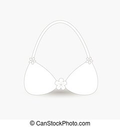White Vector Bra