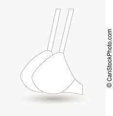 Bra Side View Vector