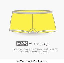 Mens Underwear Vector Illustration