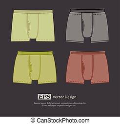 Colored Underwear Set