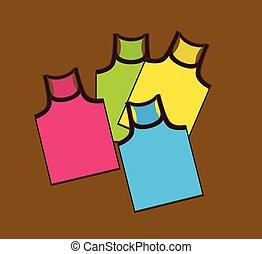 Colorful Gym Vest Vector Set