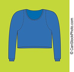 Blue Female Thermal Blouse Vector Illustration