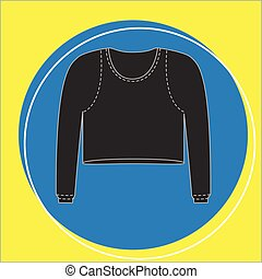Female Thermal Blouse Vector Illustration