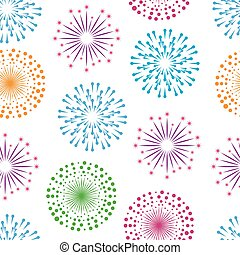 Fireworks seamless pattern background