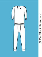 Thermal Costume Set Vector Illustration