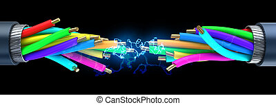 electric spark - 3d illustration of electrical spark inside...