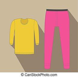 Thermal T-Shirt and Pant Vector Illustration