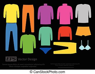 Colorful Male and Female Garments