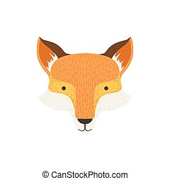 Fox Head As A National Canadian Culture Symbol. Isolated...