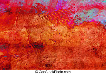 Abstract grunge paint - handmade for colorful wallpaper