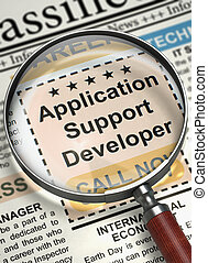 Now Hiring Application Support Developer 3D - Newspaper with...