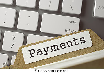 Card Index Payments. 3D. - Payments. Archive Bookmarks of...