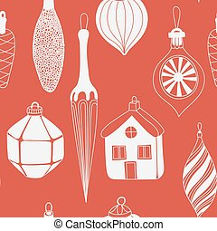 Collection of various Christmas ornaments