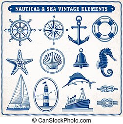 Nautical and Sea Vintage Illustration