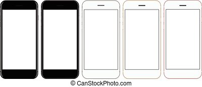 vector mockup phone front view on white background, new...