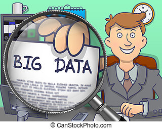 Big Data through Magnifying Glass Doodle Style - Big Data on...