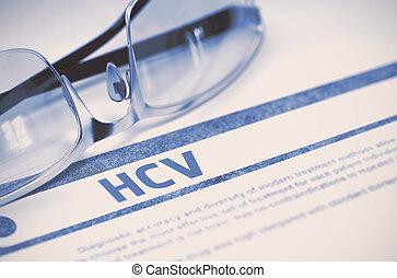 HCV. Medicine Concept on Blue Background. 3D Illustration. -...