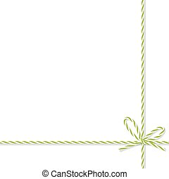 Background with bakers twine bow and ribbons - Abstract...