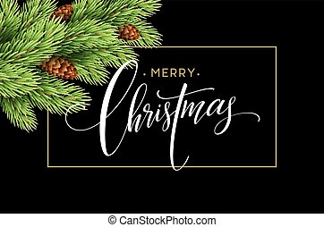 Merry Christmas and Happy New Year 2017 greeting card, vector illustration.