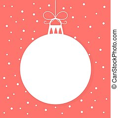 Christmas bauble vector - Christmas bauble white tag. Vector...