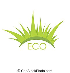 Eco grass vector