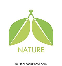 Leaves nature symbol. Vector illustration