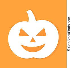 Jack o lantern halloween pumpkin. Vector illustration