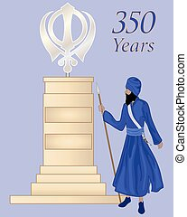 sikh monument - a vector illustration in eps 10 format of a...
