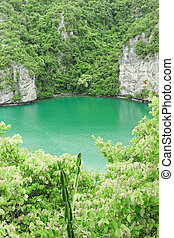 The lagoon called 'Talay Nai' in Moo Koh Ang Tong National...