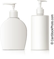 Realistic Dispenser set for soap - Realistic Cosmetic...