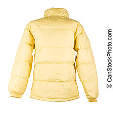 yellow jacket isolated over white background closeup