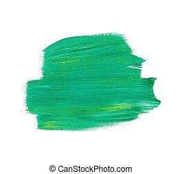 Green vector watercolor paint stain isolated