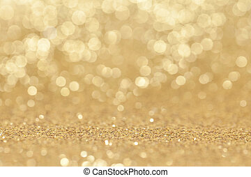 Abstract golden glitter background