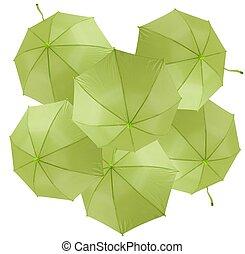 verde, paraguas