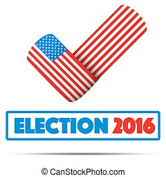 Symbol of Election 2016 Check mark symbol in the form of...