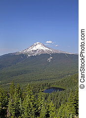 Mount Hood and Mirror Lake