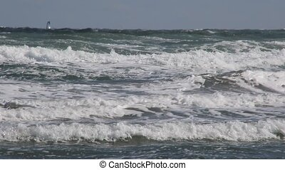 stormy sea with the wind