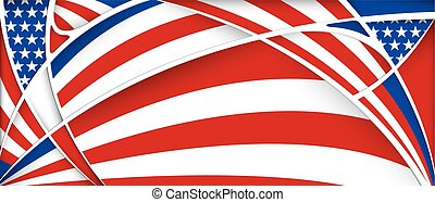 Background with colors of USA flag